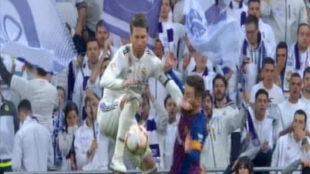 ¿Hubo agresión de Ramos a Messi?