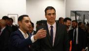 El presidente del Gobierno, Pedro Sánchez, durante su visita a feria...