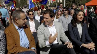 Albert Rivera con Celestino Corbacho, 'número tres' de Manuel Valls...