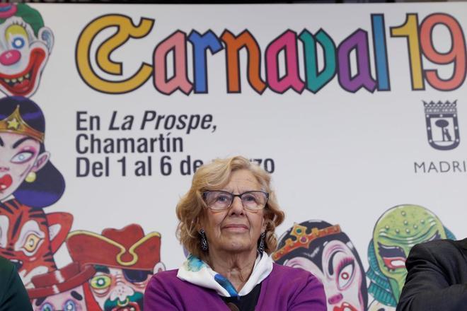 Manuela Carmena en la programación del Carnaval 2019.
