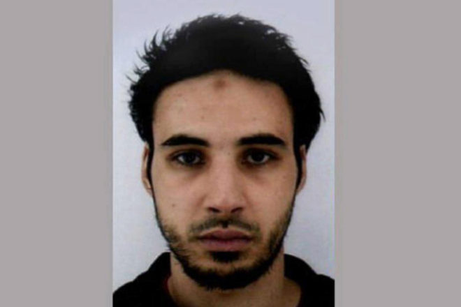 Foto distribuida por la Policía francesa de Cherif Chekatt, autor del atentado de Estrasburgo.