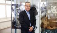 El ex ministro socialista Celestino Corbacho durante la entrevista con...