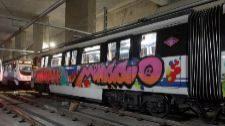 Los grafiteros causaron daños de 4,3 millones en los trenes