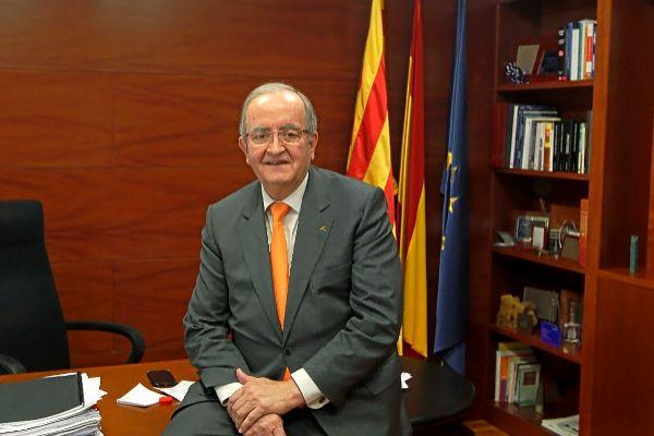 El presidente de PIMEC, Josep González, en su despacho.