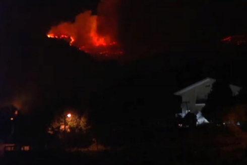 """Controlado el incendio forestal de """"grandes dimensiones"""" en Muskiz"""