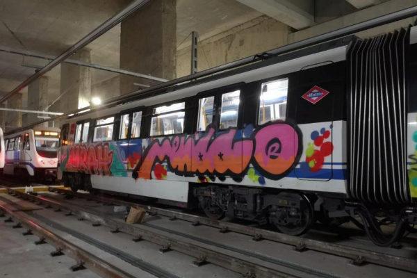 Ataque a un vagón de Metro Madrid.