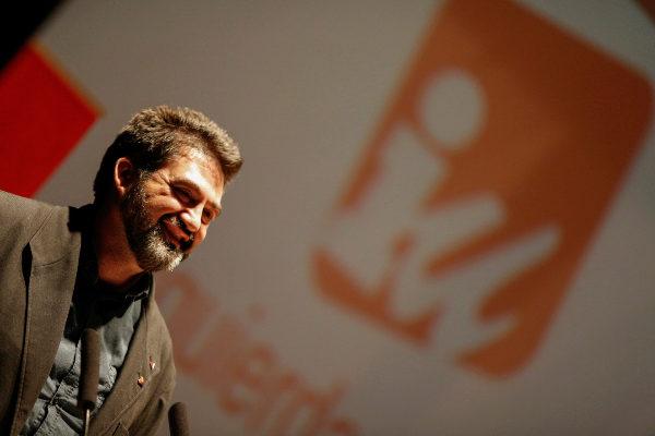 Carlos Sánchez Mato en un acto de IU.