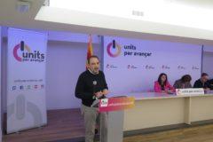 El secretario general de Units per Avançar, Ramon Espadaler, durante el consejo nacional de la formación, esta mañana en Barcelona.