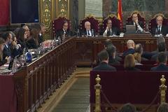 Imagen de la sala del Supremo en el juicio del1-O.
