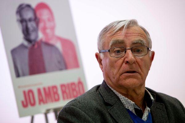 Joan Ribó, en el acto de presentación de su campaña.