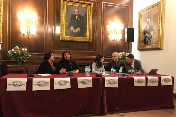 Rueda de prensa de presentación de la iniciativa judicial en Barcelona