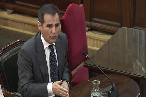 El ex 'numero dos' de Interior, José Antonio Nieto, durante su declaración