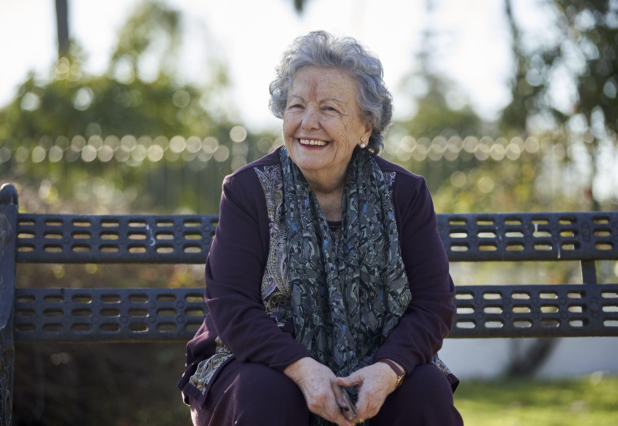 María Galiana, en el Parque de María Luisa de Sevilla.