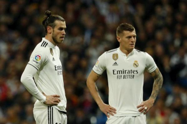 Bale y Kroos, durante el clásico del pasado sábado.