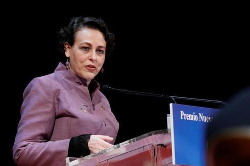 La ministra de Trabajo, Magdalena Valerio, en un acto organizado por Nueva Economía Forum.