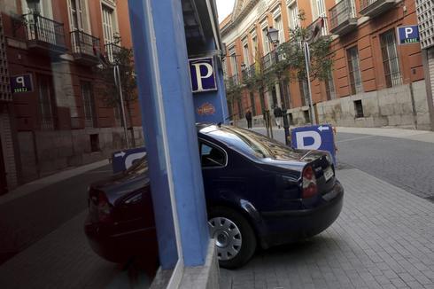 Uno de los aparcamientos de Madrid Central.
