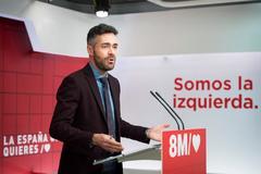 El portavoz del Comité electoral del PSOE, Felipe Sicilia