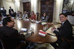 Reunión extraordinaria del Consell previa al anuncio del adelanto electoral.
