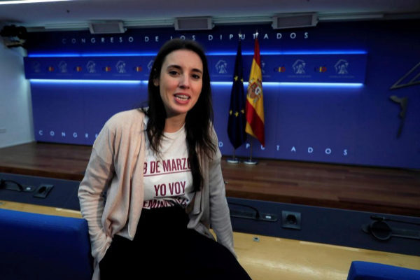Irene Montero, portavoz de Unidos Podemos.