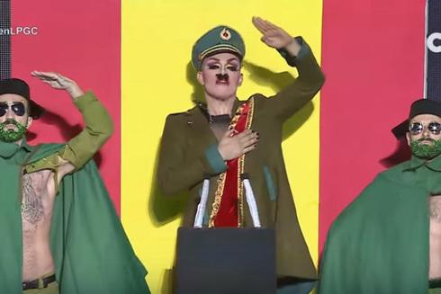 Drag Boy, en un momento de su Performance Arde España.