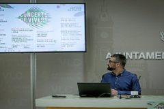 Pere Fuset, ayer durante la presentación del cartel de los conciertos de Viveros.