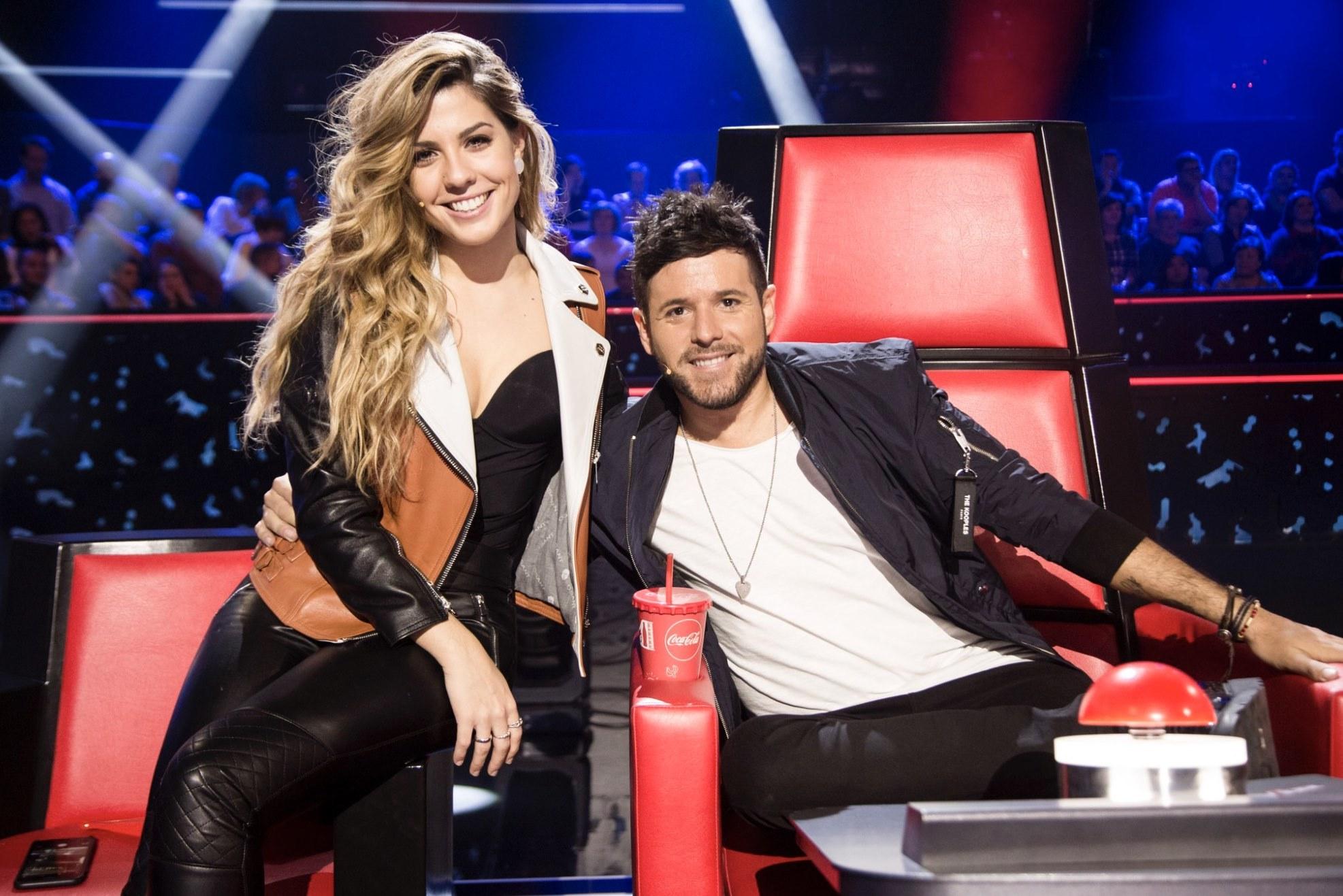 Miriam Rodríguez y Pablo López de La Voz de Antena 3