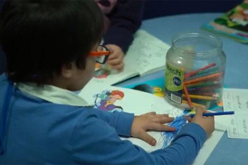 Niño de un centro de acogida de la Comunidad de Madrid.
