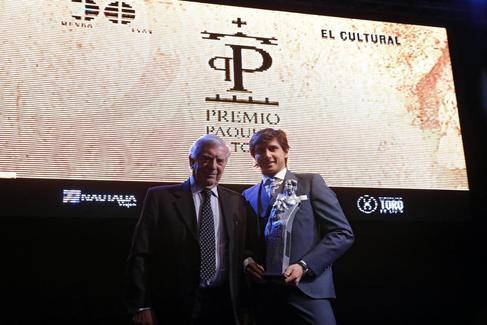 Acto de entrega del X Premio Paquiro a Roca Rey en Las Ventas.