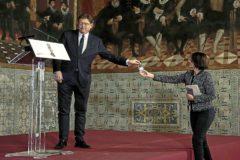 El presidente de la Generalitat, Ximo Puig, ayer en su intervención para explicar la convocatoria electoral.