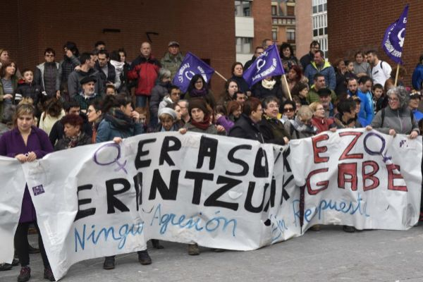 Movilización en Barakaldo contra una agresión sexual.