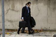 Javier López Madrid llega a la Audiencia Nacional para declarar por el Caso Bankia, en noviembre.