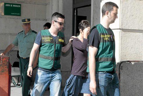 Maria Charpin sale de los juzgados de Sevilla tras declarar por el 'caso UGT' el 26 junio 2014.