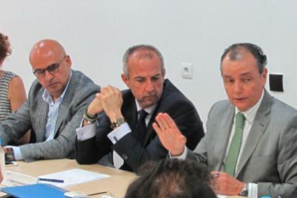 Miguel Quintanilla, Perfecto Palacio y Salvador Navarro (CEV).