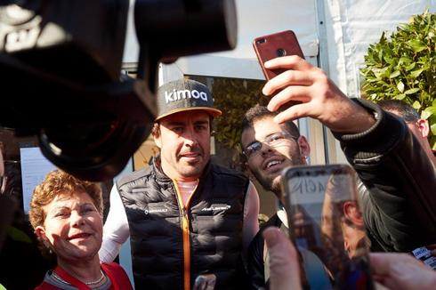 Fernando Alonso, la semana pasada en Montmeló.
