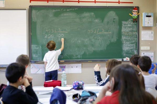 Clase de Matemáticas en un colegio público de Madrid.