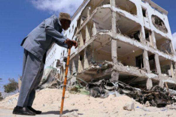 Imagen de un atentado suicida en Mogadiscio (Somalia).