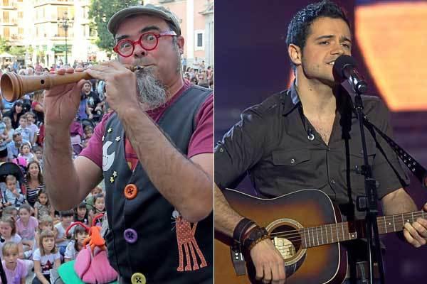 El cantautor Dani Miquel (izda) y ex de OT Leo Segarra.