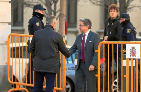 Enric Millo, el que fuera el delegado del Gobierno en Cataluña, a su llegada este martes al Tribunal Supremo.