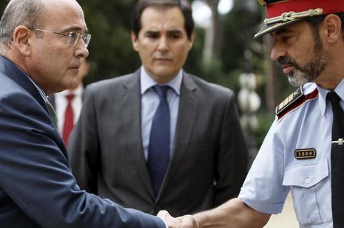 Pérez de los Cobos (Guardia Civil) y Trapero (Mossos), antes de una junta de seguridad en los días previos al 1-O.