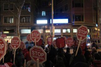 Protesta de Stop Desahucios.