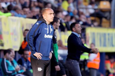 Abelardo, durante el partido del Alavés en Villarreal.