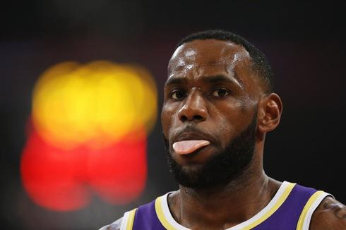 LeBron James, durante un partido reciente de los Lakers.