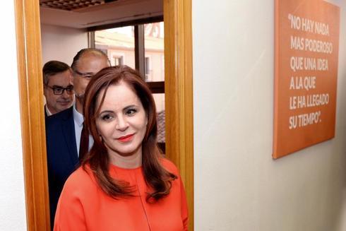 Silvia Clemente, tras la rueda de prensa el 26 de febrero
