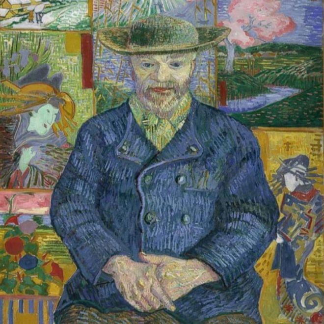 Un detalle de 'El doctor Paul Gachet', de Vincent Van Gogh.