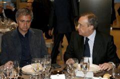 Mourinho y Florentino Pérez, en 2012.