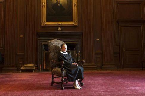 La jueza de la Corte Suprema de Estados Unidos, Ruth Bader Ginsburg.