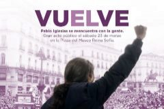 Iglesias pide perdón por el cartel machista que anuncia su regreso