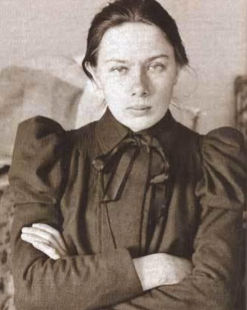 Foto de juventud de Nadezhda Krupskaya.