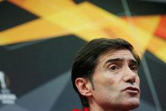 El entrenador del Valencia, Marcelino García Toral, durante la rueda de prensa con motivo del partido de ida de los octavos ante al Krasnodar.