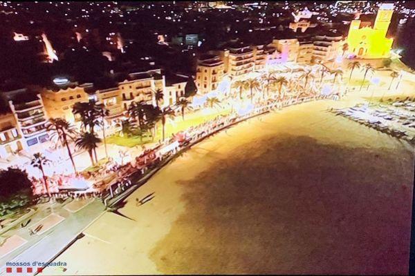 Vigilancia nocturna de Sitges con drones